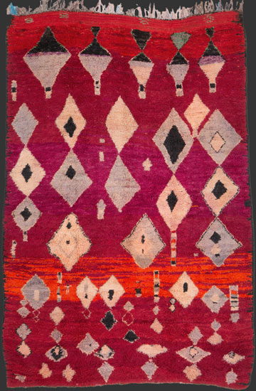 tm ait youssi pile rug central middle atlas morocco 1930s