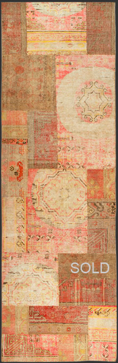 Khotan patchwork rug KPW 54744 adapted runner version