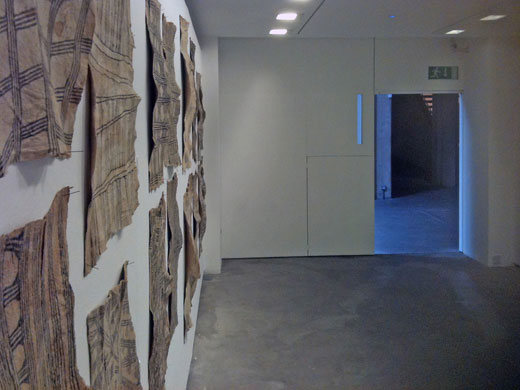 Mbuti loincloth exhibition at the Douglas Hyde Gallery, Dublin, Ireland, 1st of june - 18th of July 2012