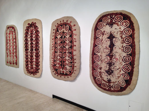 turkmen felt prayer rugs