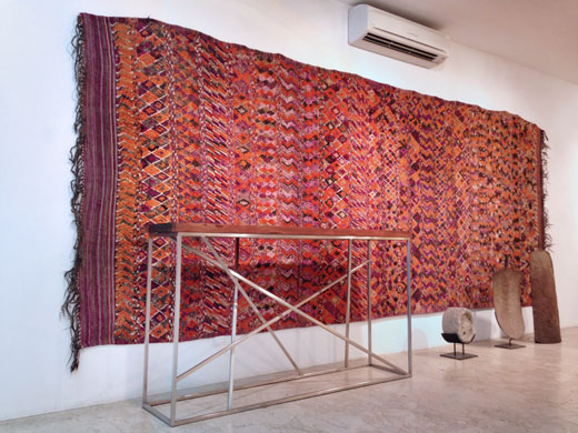 a huge + very rare rug from the Beni bou Yahi, lower Moulouya valley, eastern Morocco