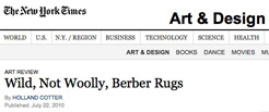 The New York Times: 'Wild, Not Wooly, Berber Rugs', Holland