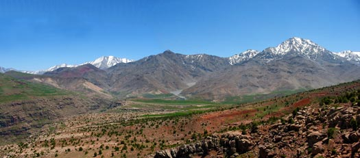 Ourika valley. High Atlas mountains panorama
