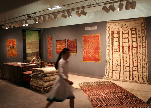 New York tribal show Beni Mguild + Boujad Berber carpet