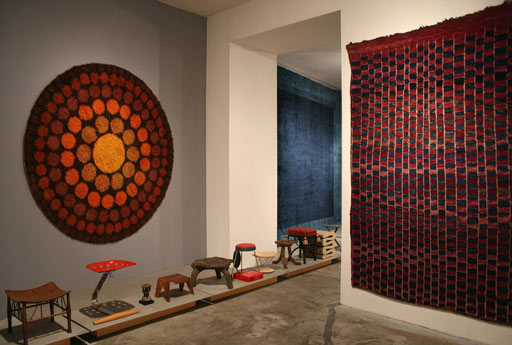 geometrien exhibition vienna. vintage rug by Verner Panton. berber carpet
