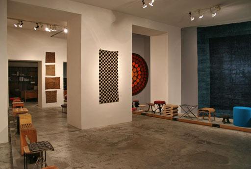 geometrien exhibition vienna. Tibet checkerboard rug. vintage Verner Panton rug. Bejing carpet