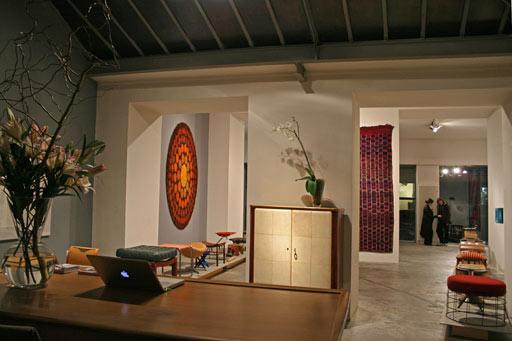 geometrien exhibition vienna.vintage Verner Panton rug. Berber carpet