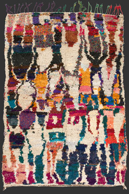 pile rug from the Ourika valley, 240 x 165 cm (8' x 5' 6'')
